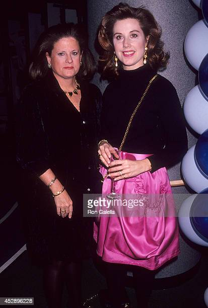 Public relations Anne Keating and Lauren Cindy Roncetti attend Rod Stewart in Concert Vagabond Heart Tour on January 27 1992 at Madison Square Garden...