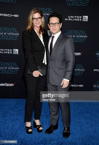 Public relations executive and producer Katie McGrath and her husband director producer and writer JJ Abrams attend the premiere of Disney's Star...