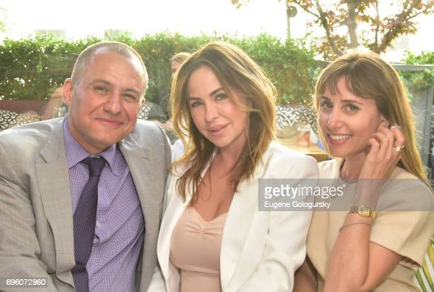 Public Relations Ronn Torossian, Rhonda Adams and Rachel Heller attend 5WPR 15th Anniversary Event at Catch Rooftop on June 14, 2017 in New York City.
