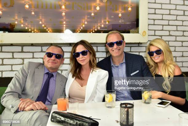 Public Relations Ronn Torossian, Rhonda Adams, David Steinberg and guest attend 5WPR 15th Anniversary Event at Catch Rooftop on June 14, 2017 in New...