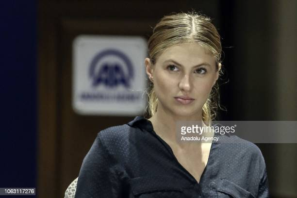 Public Relations specialist of Romania's news agency 'AGERPRES' Alexandra Stefan attends the 27th Association of the Balkan News Agencies Southeast...