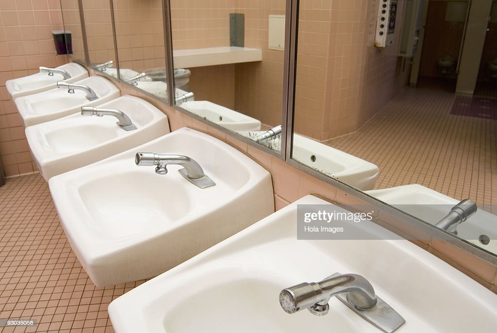 Interior Of Abandoned Public Bathroom High-Res Stock Photo
