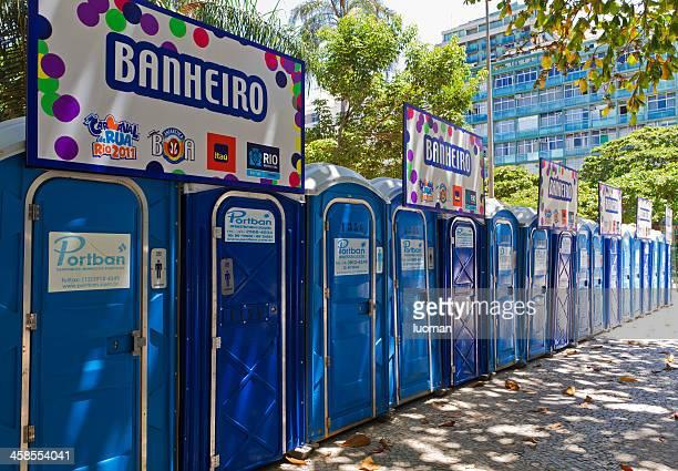 Public restrooms - Carnival time in Rio de Janeiro