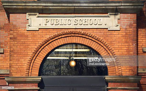 public school building - elementary school building stock pictures, royalty-free photos & images