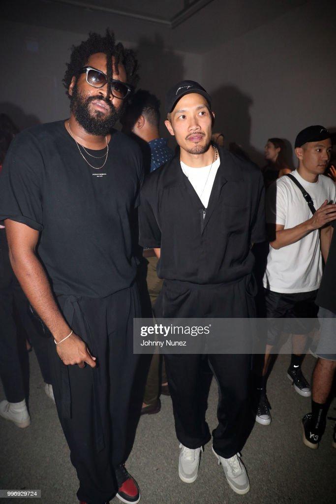 Public School co-Founders Maxwell Osborne (L) and Dao-Yi Chow attend the Public School - Presentation - July 2018 New York City Men's Fashion Week on July 11, 2018 in New York City.