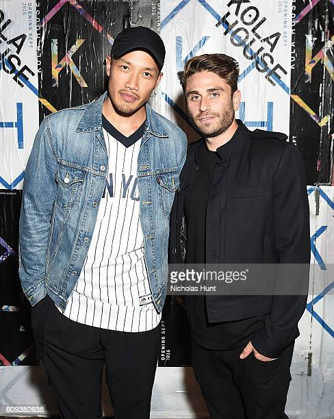 Public School Designer DaoYi Chow and Eric Marx attend the Kola House Opening Party at Kola House on September 20 2016 in New York City
