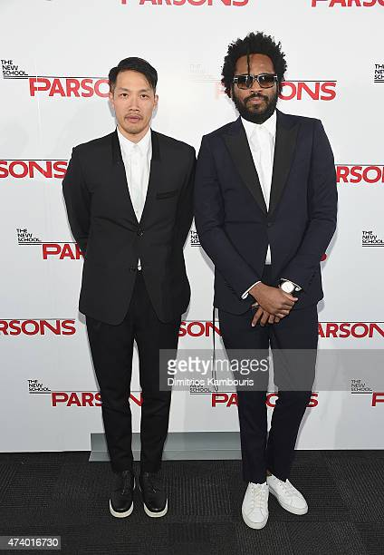 Public School designers Daoyi Chow and Maxwell Osborne attend the 67th Annual Parsons Fashion Benefit at River Pavillion at the Jacob Javitz Center...
