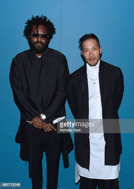Public School Designers Maxwell Osborne and DaoYi Chow attend the 2017 CFDA Fashion Awards Cocktail Hour at Hammerstein Ballroom on June 5 2017 in...