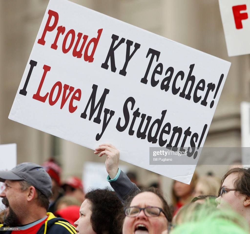 Public School Teachers And Their Supporters Protest