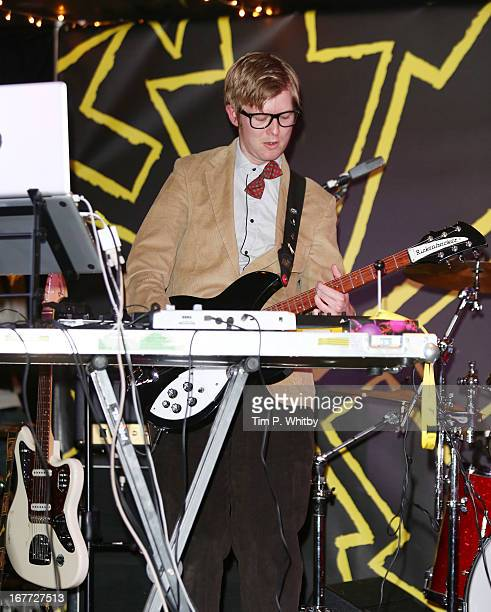 Public Service Broadcasting performs at the ASCAP Bands Festival Hub during the Sundance London Film And Music Festival 2013 at The Hub on April 28...