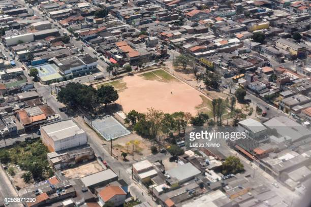 public soccer field in guarulhos, são paulo. - demography stock pictures, royalty-free photos & images