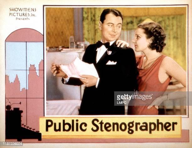 Public Stenographer lobbycard from left William Collier Lola Lane on lobbycard 1934