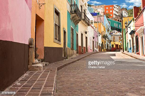 Public street view of Guanajuato City, Mexico