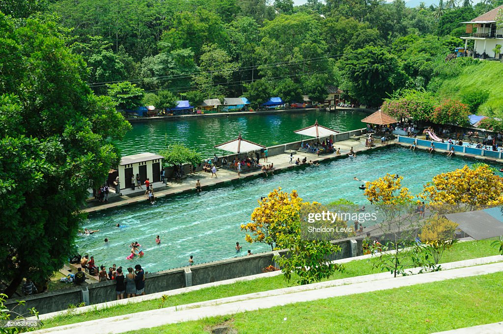 Public swimming pool in Lombok : Stock Photo