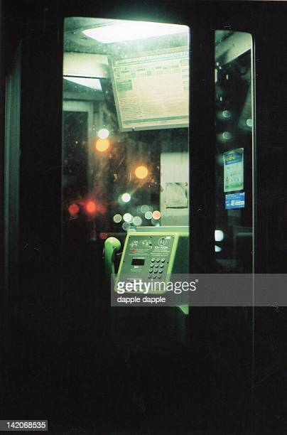 Public telephone of night
