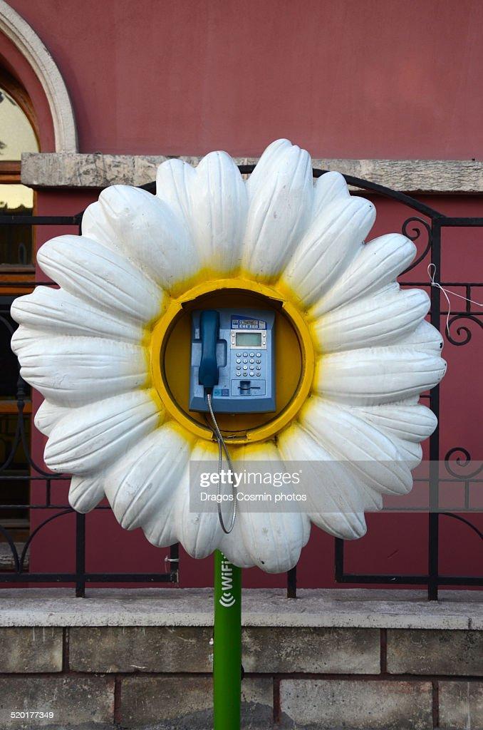 Public Telephone in Istanbul,Turkey.