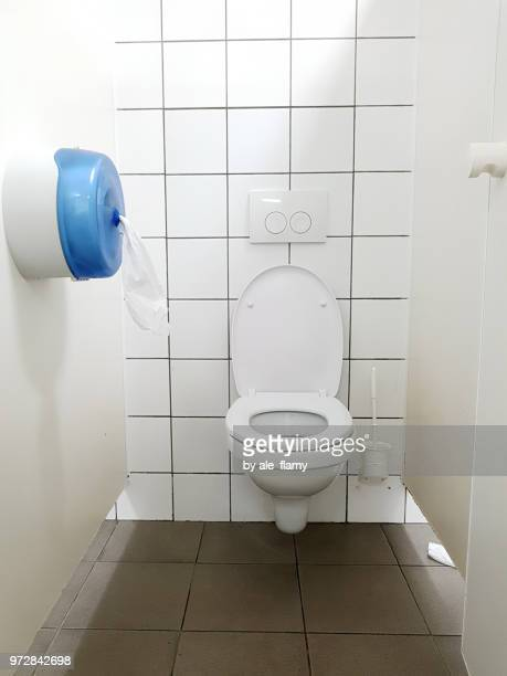 public toilet cubicle - public restroom stock pictures, royalty-free photos & images