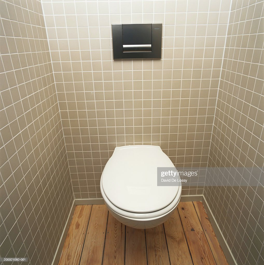 Public toilet, elevated view : Stock Photo