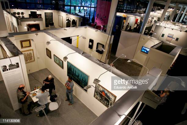 Public visit Bienal Pavillion during the first day of SP Arte 2011 on on May 12 2011 in Sao Paulo Brazil SP Arte is an arts fair gathering 89...