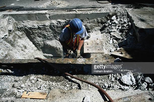 public works construction - reporterstil stock-fotos und bilder