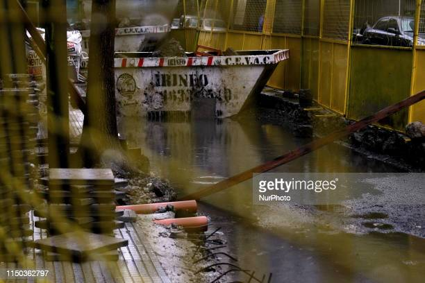 Public works flooded amid the massive power blackout on June 16 2019 in Buenos Aires Argentina A widespread power failure early Sunday morning left...