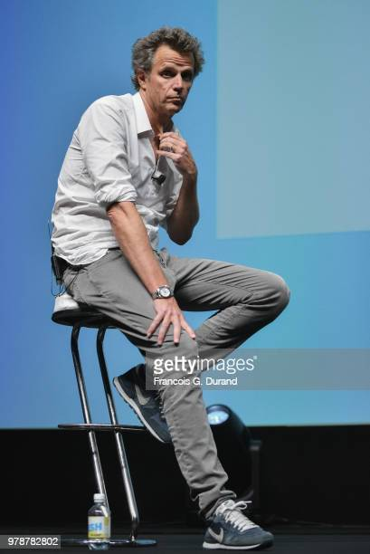 Publicis Groupe Arthur Sadoun speaks during the 'Marcel One Year Later AI Creativity and the Future of Our Industry' session at the Cannes Lions...