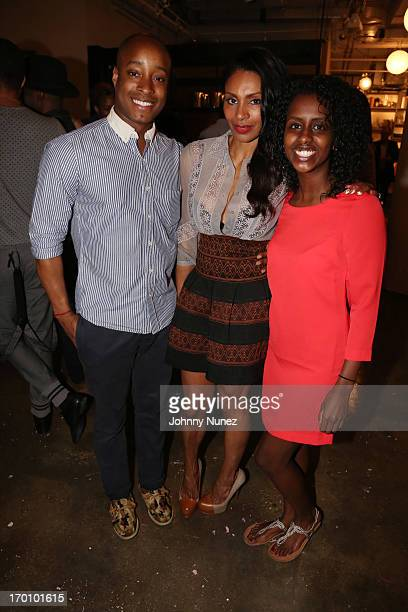 Publicist Adair Curtis actress/ photographer Chenoa Maxwell and guest attend Leaders Of The New Cool at Canoe Studios on June 6 2013 in New York City