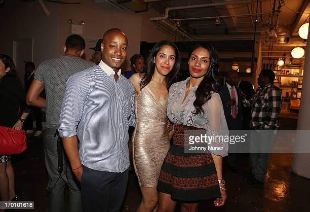 Publicist Adair Curtis guest and actress/ photographer Chenoa Maxwell attend Leaders Of The New Cool at Canoe Studios on June 6 2013 in New York City