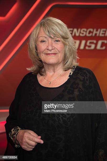 Publicist Alice Schwarzer attends the 'Menschen bei Maischberger' TV Show at the WDR Studio on April 14 2015 in Cologne Germany
