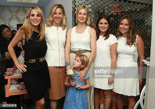 Publicist Alison Brod President of Blushington Natasha Cornstein actress Kelly Rutherford and daughter Helena Grace Rutherford Giersch Blushington...