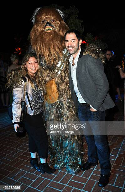 Publicist Amy Zvi with Chewbacca of The Dark Side Riders attend the After Party for the 40th Annual Saturn Awards held at on June 26 2014 in Burbank...