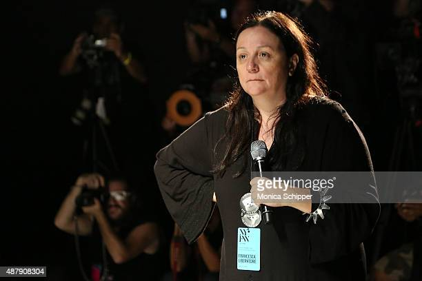 Publicist and TV personality Kelly Cutrone at Francesca Liberatore Spring 2016 during New York Fashion Week The Shows at The Dock Skylight at...