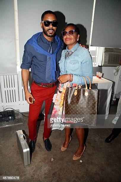 Publicist BJ Coleman and fashion executive Sandra Valez attend the Frontrow s/s 2016 Presentation at Highline Loft on September 11 in New York City