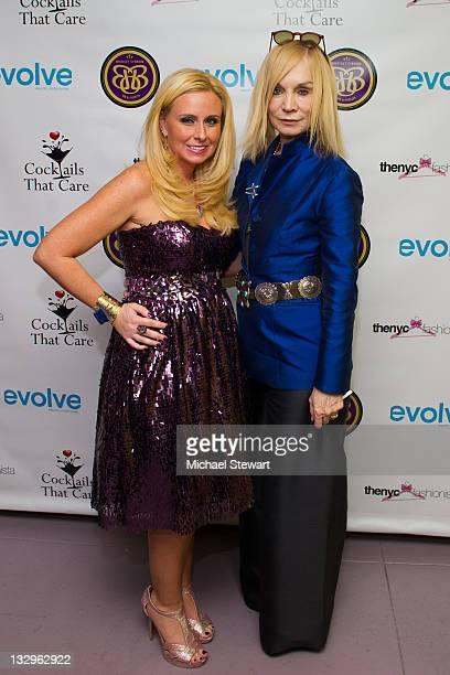 Publicist Bridget O'Brien and designer Maggie Norris attend the 2011 Cocktails that Care benefit at Pranna Restaurant on November 15 2011 in New York...