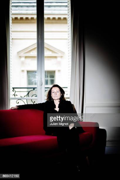Publicist Elisabeth Tanner is photographed for Grazia Magazine on November 2015 in Paris France