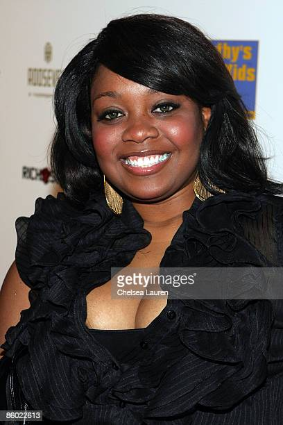 Publicist Erica Lane arrives at the 5th Anniversary Dinner of The Cathy's Kids Organization at The Roosevelt Hotel on April 17 2009 in Los Angeles...