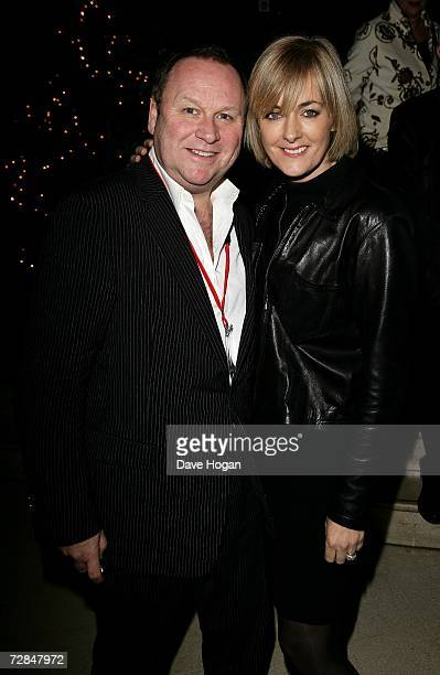 Publicist Gary Farrow and journalist Jane Moore arrive at the after party following the world charity film premiere of It's A Boy Girl Thing in...
