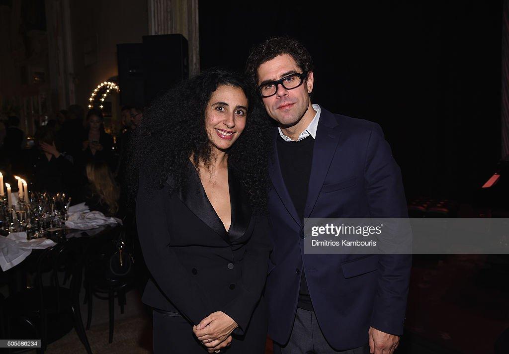 Publicist Iana Dos Reis Nunes and CEO of Marc Jacobs International Sebastian Suhl attend Marc Jacobs Beauty Velvet Noir Mascara Launch Dinner at Hotel Wolcott Ballroom on January 18, 2016 in New York City.