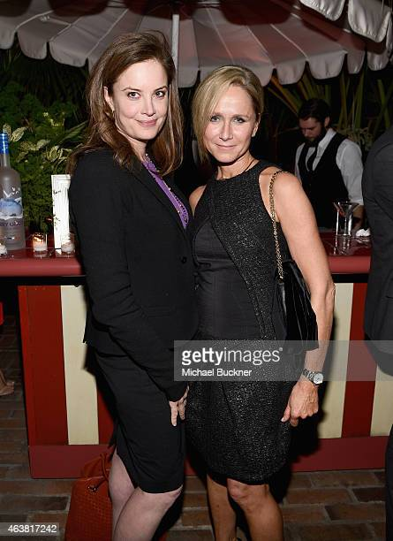 Publicist Ina Treciokas and Vanity Fair's Jennifer Parker attend VANITY FAIR and Barneys New York Dinner benefiting OXFAM hosted by Rooney Mara at...