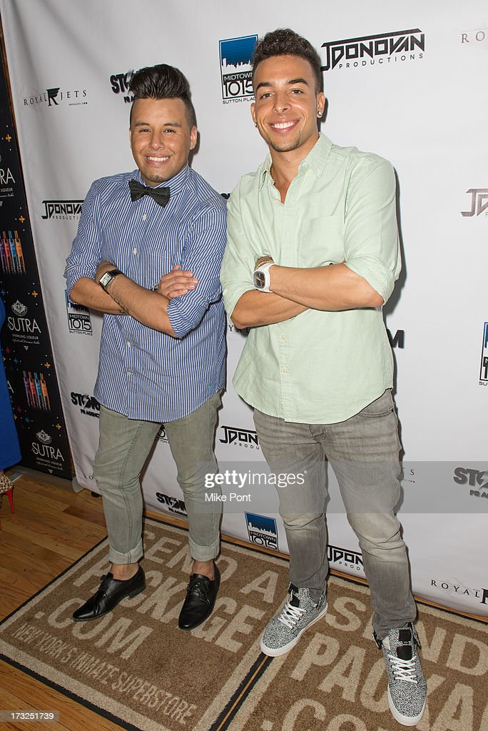 Publicist Johnny Donovan and Recording Artist Dash attend Renee Graziano's Celebrity Dinner Party at Midtown 1015 on July 10, 2013 in New York City.
