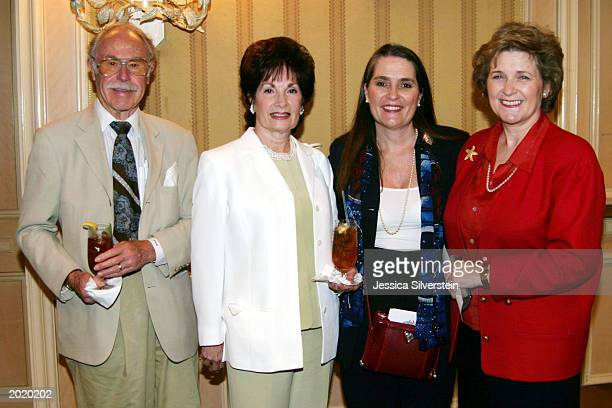 Publicist Julian Meyers June DeMaria Lynne Weaver and Gayle Barrenson attend the Women of Los Angeles Hope Is A Woman luncheon at The Four Seasons...