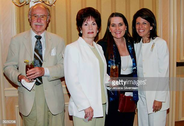 """Publicist Julian Meyers, June DeMaria, Lynne Weaver and Stacy Phillips attend the Women of Los Angeles """"Hope Is A Woman"""" luncheon at The Four Seasons..."""