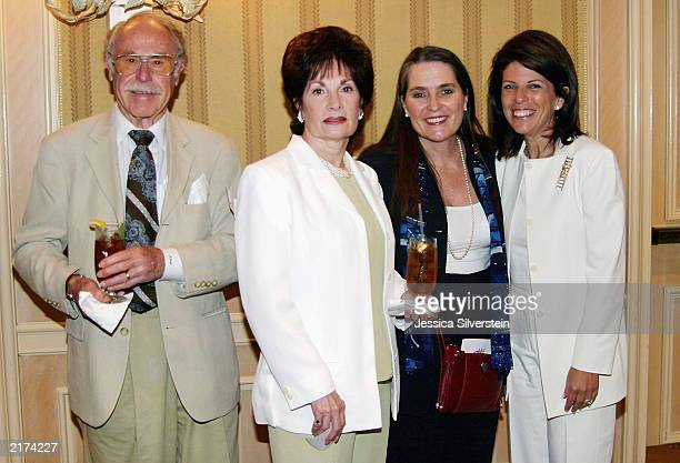 Publicist Julian Meyers June DeMaria Lynne Weaver and Stacy Phillips attend the Women of Los Angeles Hope Is A Woman luncheon at The Four Seasons...