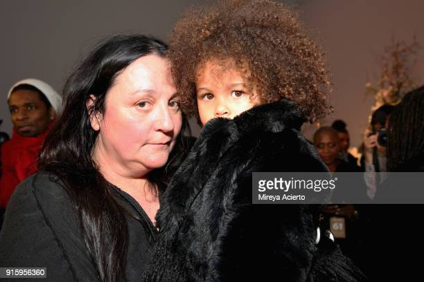 Publicist Kelly Cutrone and Aria De Chicchis attend the Ceremony XulyBet x Mimi Prober x Hogan McLaughlin front row during New York Fashion Week...