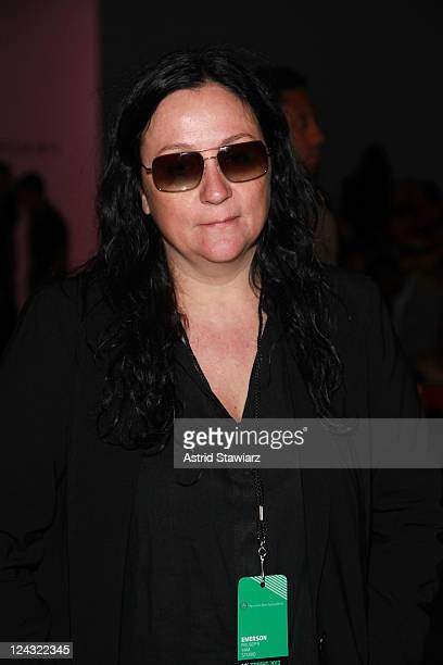 Publicist Kelly Cutrone attends the Emerson Spring 2012 fashion show during MercedesBenz Fashion Week at The Studio at Lincoln Center on September 9...