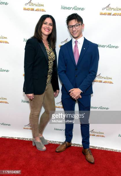 """Publicist Lisa Schneiderman and Actor Duncan Anderson attend the premiere of the film """"Never Alone"""" at Arena Cinelounge on October 04, 2019 in..."""