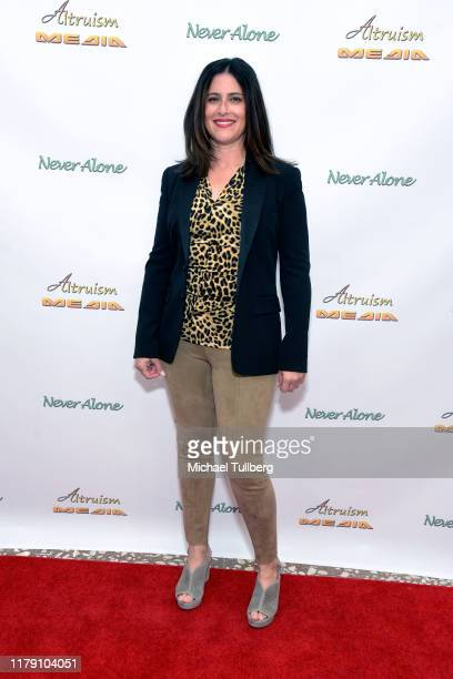 """Publicist Lisa Schneiderman attends the premiere of the film """"Never Alone"""" at Arena Cinelounge on October 04, 2019 in Hollywood, California."""