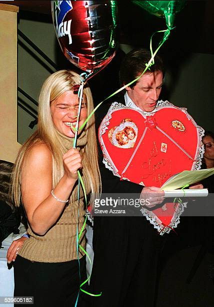 Publicist Lizzie Grubman and 'Cupid' at her 30th birthday party at Moomba in New York City