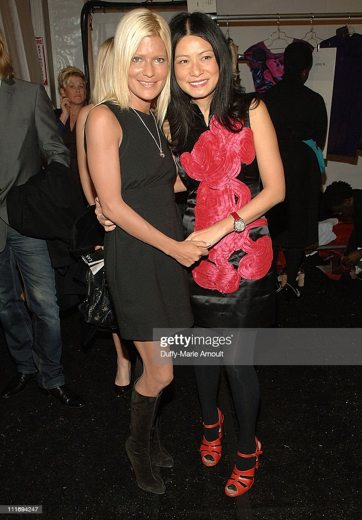 Publicist Lizzie Grubman and Designer Vivienne Tam backstage at Vivienne Tam Fall 2008 during Mercedes-Benz Fashion Week at The Promenade, Bryant Park on February 5, 2008 in New York City.