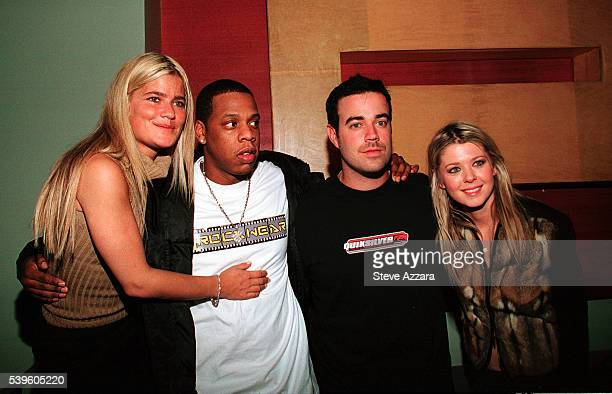 Publicist Lizzie Grubman JayZ Carson Daly and Tara Reid at Grubman's 30th birthday party at Moomba in New York City